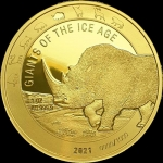 2021 Republic of Ghana 1 oz Gold Giants of the Ice Aget -...