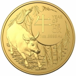 2021 Australia 1 oz Gold Lunar Year of the Ox BU (RAM)