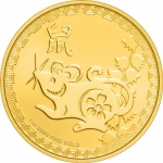 2020 Niue 1 oz Gold $250 Lunar Year of the Rat BU