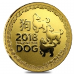 2018 Niue 1 oz Gold $250 Lunar Year of the Dog - 3 Dogs BU