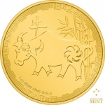 2021 Niue 1 oz Gold $250 Lunar Year of the Ox BU