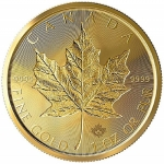 1 Unze Gold Maple Leaf Double Incuse 2019 Kanada Incuse
