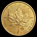 1 oz Gold Canadian Maple Leaf Brilliant Uncirculated 2019