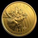 2019 Canada 1 oz Gold Call of the Wild Roaring Moose...
