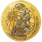 1 oz Gold Rwanda Nautical Ounce Mayflower  BU
