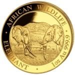 1 Oz Gold Somalia 100 Sh Elephant Coin 2020