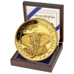 1 Oz Gold Somalia 100 Sh Elephant Coin 2021 Privy Ox