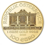 1 oz Gold Austrian Philharmonic Brilliant Uncirculated 2020