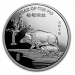 1 oz Silver Round - 2019 Year of the Pig .999 Fine