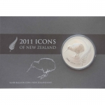 2011 1 oz Silver New Zealand $1 Kiwi Treasures - Kowhai...
