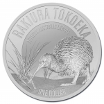 2017 1 oz Silver New Zealand $1 Kiwi Southern Brown Kiwi...
