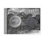 2019 1 oz Silver New Zealand $1 Iconic Brown Silver Kiwi...