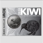 2020 1 oz Silver New Zealand $1  Silver Kiwi Black Nickel...