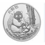 1 oz Silver New Zealand Mint $2 Niue Panda with Cub .999...