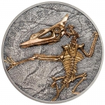2018 Mongolia 1 oz Silver Evolution of Life Pterosaur