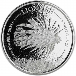 2019 Barbados 1 oz Silver Lionfish BU