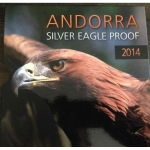 1 oz Silver Andorra Eagle 2014 in Proof 1 Diner