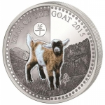 1 Unze Silver Benin Year of the Goat Fur 2015 PL