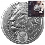 1 oz Silver South African Big Five Lion 2019