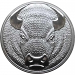 1 Oz Silver Bitcoin Sol Noctis Binary Bull 2019 999,99 Proof 1mBTC