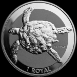 1 Unze Silber  British Indian Ocean Territory Sea Turtle...