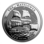 2020 British Virgin Islands BVI 1 oz Silver Mayflower...