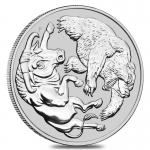 2020 1 oz Silver Australian Bull and Bear Coin Perth Mint...