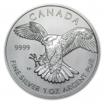 1 oz Silver 2014  Canadian Birds of Prey Series -...