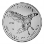 1 Unze Silber Canada Birds of Prey - Red Tailed Hawk 2015...