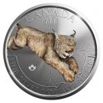 2017 Canada 1 oz Silver Predator Colorized Series Lynx
