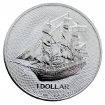 1 oz Silver Cook Islands $1 Bounty .999 Fine 2020 - new Design