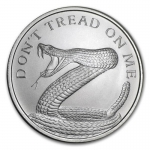 1 oz Silver Round - Don\'t Tread On Me Snake .999