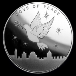 1 oz Silver Dove of  Peace, 1oz Silver, 2019 .999