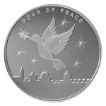 1 oz Silver Dove of  Peace, 1oz Silver, 2021.999