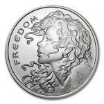 1 oz Silver Round -  Freedom Girl .999