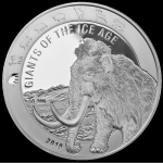 2019 Republic of Ghana 1 oz Silver Giants of the Ice Age...