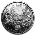 2017 Republic of Ghana 1 oz Silver African Leopard BU 5...