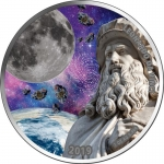 2019 Republic of Ghana 1 oz Silver Leonardo da Vinci and...