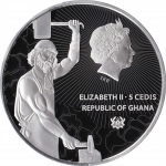 1 Unze Silber Ghana INFERNOMANT Treasures of the Blue...