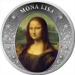 2018 Republic of Ghana 1 oz Silver MONA LISA Diamond Art...