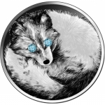 1 Oz Silver Ghana Wildlife Diamond Arctic Fox 2020...