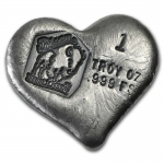 1 oz Silver Heart - Bison Bullion