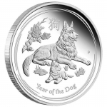 1 oz Silver Proof Australian Lunar Year of the Dog Coin...