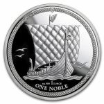 1 Unze Silber Isle of Man 2018 Noble Reverse Proof 1 Noble