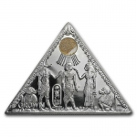 1 Unze Silber Isle of Man Angel 2009 Crown King Tut Triangle