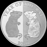 1 Oz Silver Tokelau Year of the Rat Mirror 2020