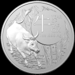 2021 $1 Year of the Ox Domed (SIII) 1oz Silver - RAM