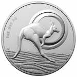 2021 1 oz Australian Silver Kangaroo - Outback Majesty in...