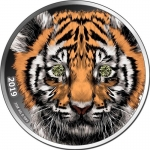 1 Oz Silver Cameroun Wildlife Tiger Diamond 2019...