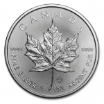 1 oz Silver Canadian Maple Leaf 2015